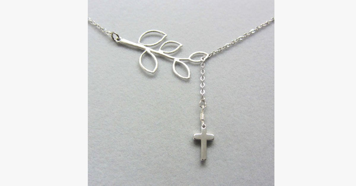 Leaf Cross Pendant