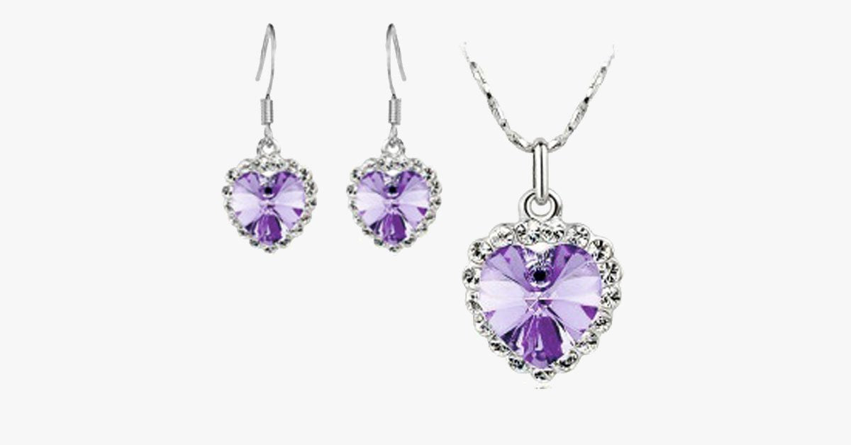 Love Crystal Heart Set