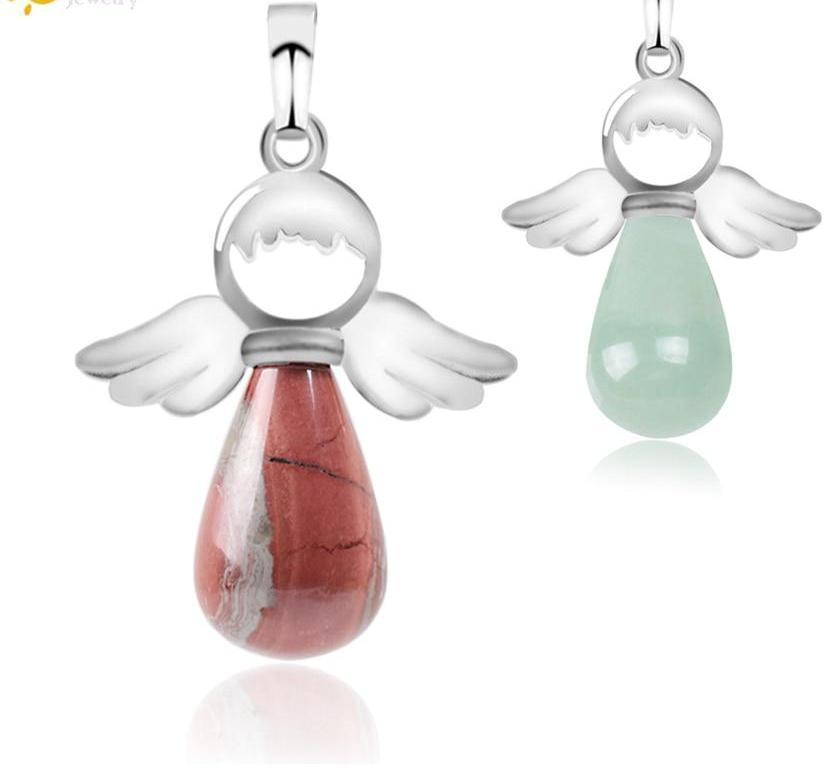 Angel Wings Water Drop Pendant