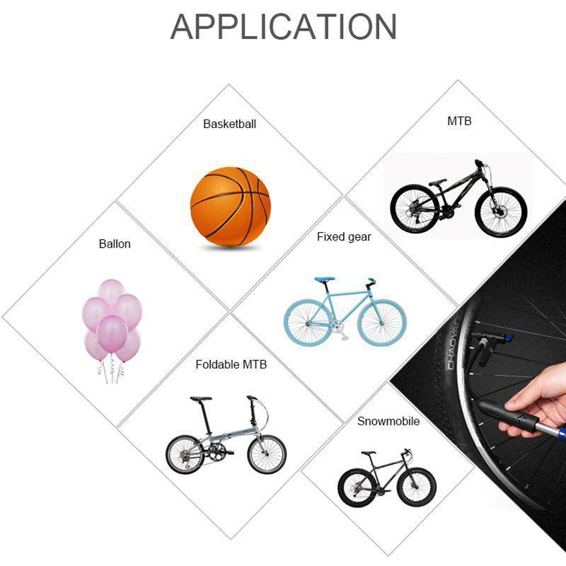 New Cycling Bicycle Mini Portable Hand Air Pump Tire Sports Ball Inflator Attach