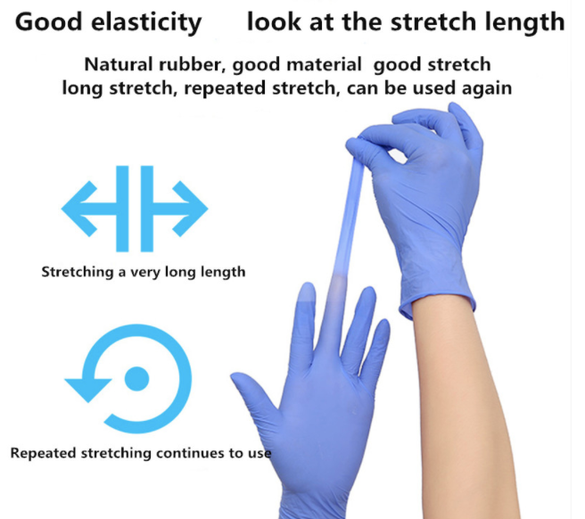 100 Disposable Gloves latex Nitrile