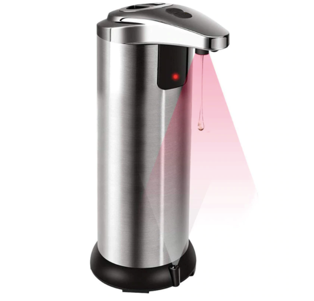 Automatic Electroplate Intelligent Liquid Soap Dispenser Stainless Steel Infrared Handfree Sanitizer Soap for Detergent