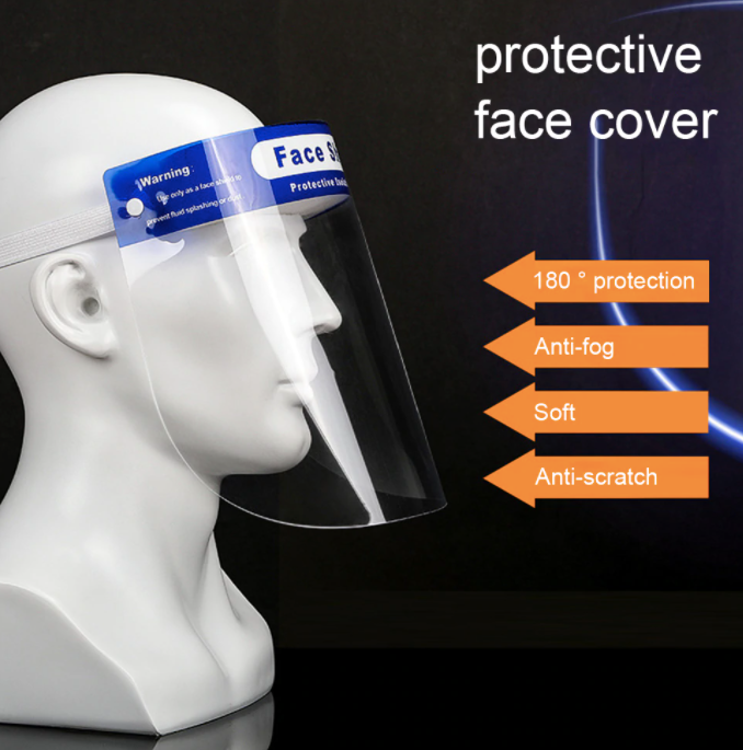 Protective Face Shield Head-mounted