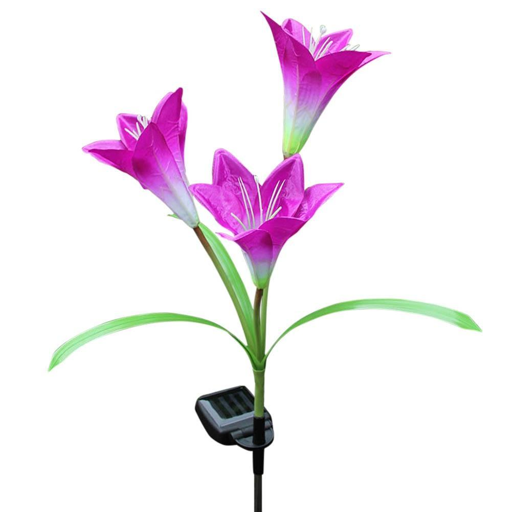 Solar Powered LED Garden Flower