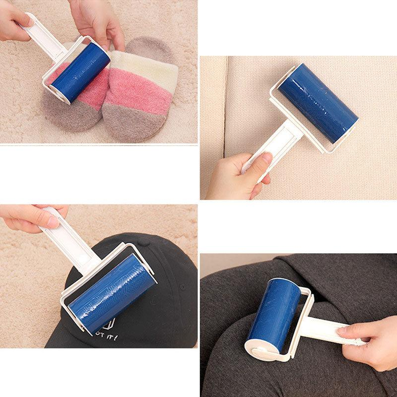 Washable Roller Cleaner Lint Sticky Picker Pet Hair Clothes Fluff Remover