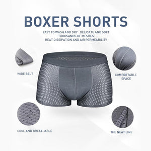 Breathable Ice Silk Solid Men Cool Underpants