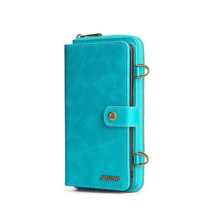 Detachable Magnetic Retro Wallet Samsung Case With Shoulder Strap