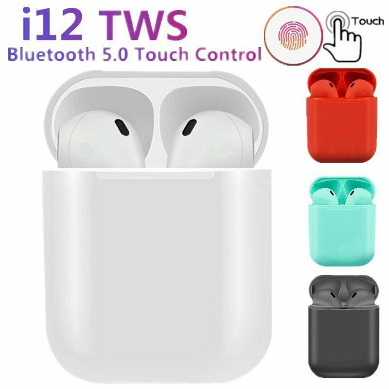i12 TWS Bluetooth  Earbuds Smart Touch Control Headphone