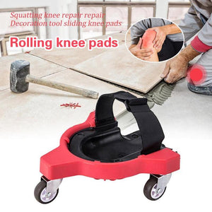 Woodworking rolling knee pads