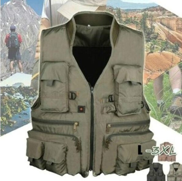 Waterproof Outdoor Photography Hiking Hunting Multi-pocket Vest