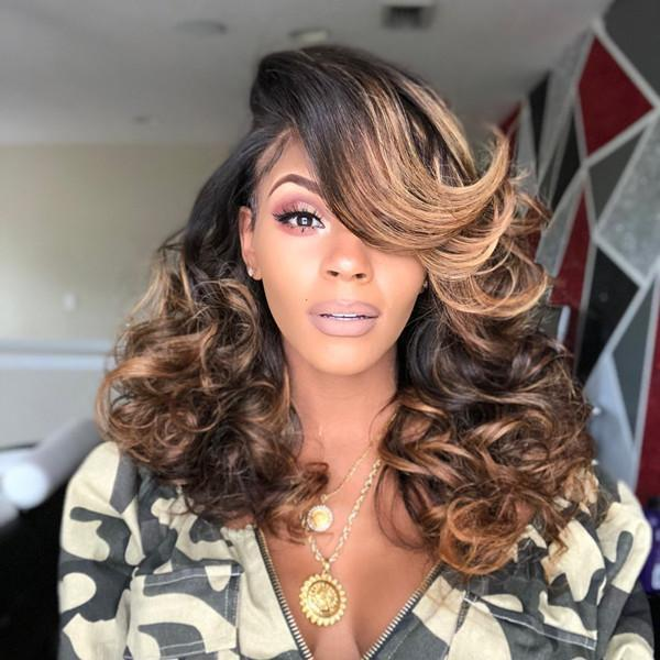 Last Day Promotion 80% OFF 20' Sexy Ombre Wavy Lace Wig With Babyhair