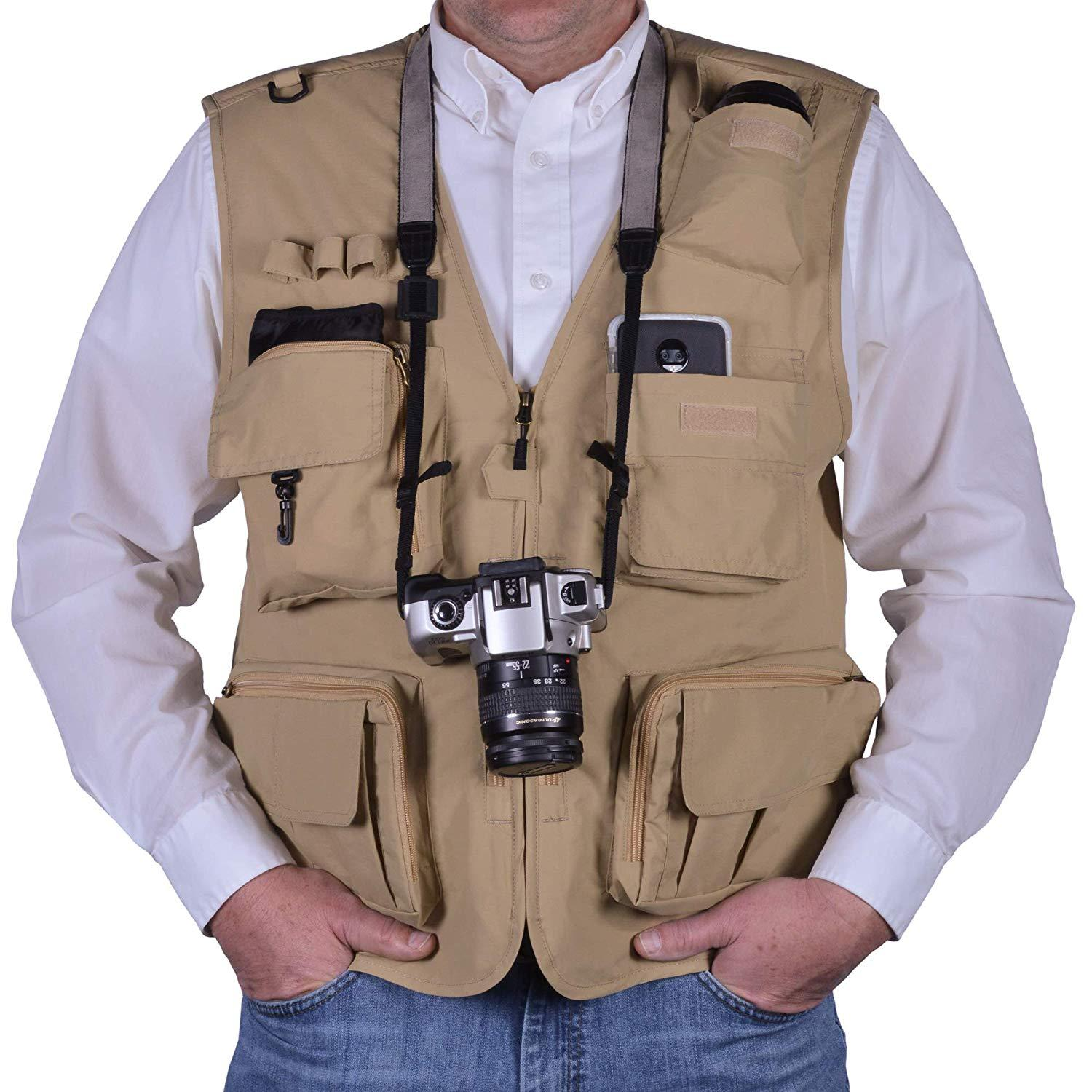 Outdoor Multi-Pocketed Fishing Travel Photo Vest