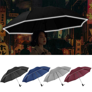 (50% OFF & Limited 300 ORDERS!) Foldable Reversible Automatic Umbrella(Reflective Strips)