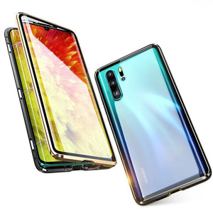 Upgraded Two Side Tempered Glass Magnetic Adsorption Phone Case for Huawei P30 P30Pro P30 Lite