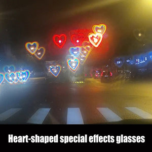 Heart-shaped special effects glasses