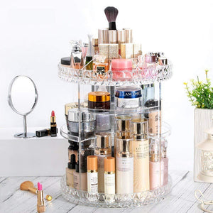 High Quality 360° Rotating Crystal Cosmetic Storage Box