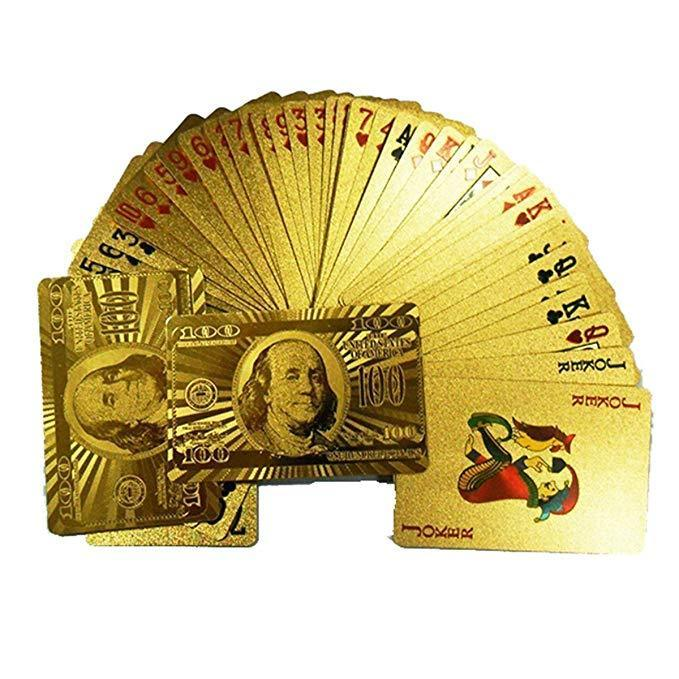 Luxury 24K Gold Foil Poker Playing Cards (Buy 2 Free Shipping)