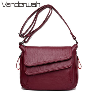 6 Colors Leather Luxury Handbags Women Bags