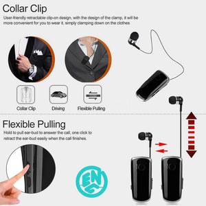 Collar-clip Bluetooth Headset