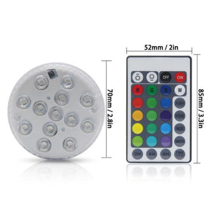 LED remote control dive light