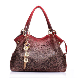 Women bag hollow out ombre handbag