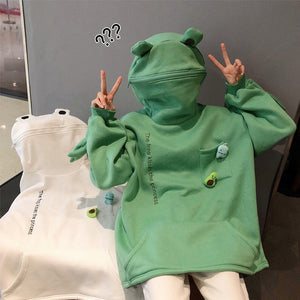 🐸Frog Zipper Hoodie Fleece Lined For Winter