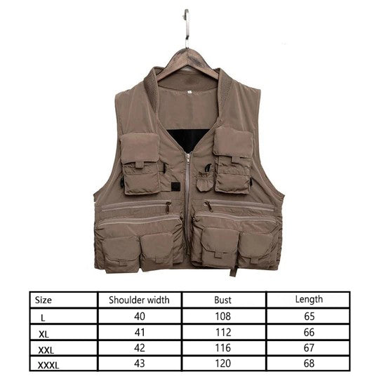 outdoor fishing vest Quick drying Breathable material