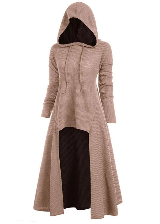 Hooded Pocket High Low Drop Shoulder Longline Sweater