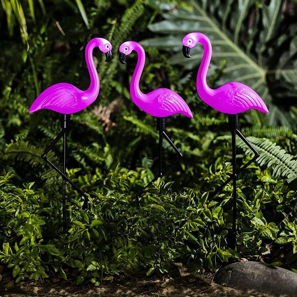 LED Solar Flamingo Stake Light