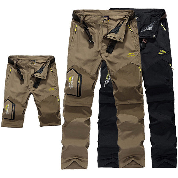 Multifunctional men's outdoor mountaineering quick-drying pants