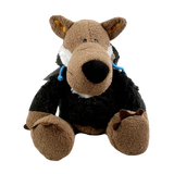 14-inch Black Disguised Wolf Plush - American Wolves