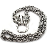 24-inch Norse Two Headed Wolf Necklace - American Wolves