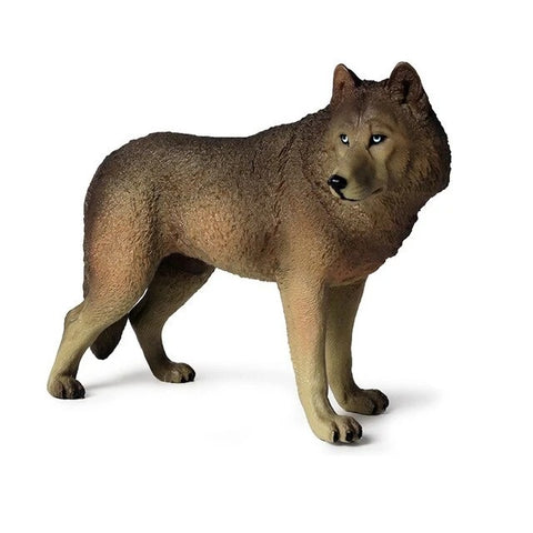 Alpha Brown Wolf Figurine - American Wolves
