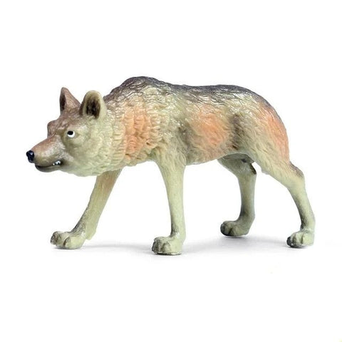 Angry Wolf Figurine - American Wolves