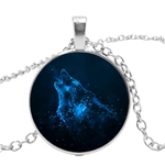 Aurora Silver Wolf Necklace - American Wolves