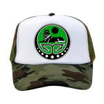 Camouflage Leisure Trucker Wolf Hat - American Wolves
