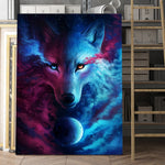 Celestial Moon Wolf Wall Art - American Wolves