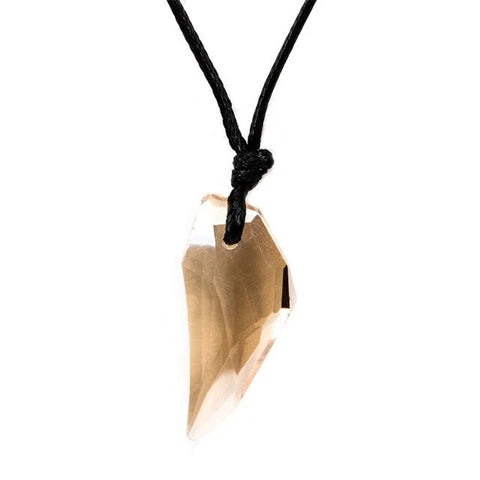 Champagne Crystal Wolf Tooth Necklace - American Wolves