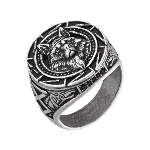 Alpha Leadership Silver Wolf Ring - American Wolves