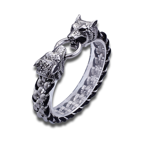 Fenrir Two-Headed Wolf Bracelet - American Wolves