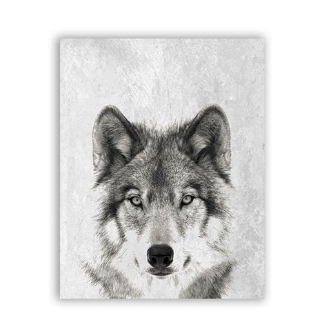 Fixation Wolf Wall Art - American Wolves