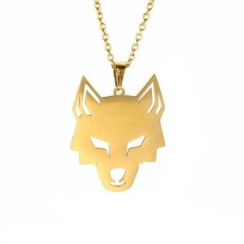 Gold Focus Wolf Necklace - American Wolves