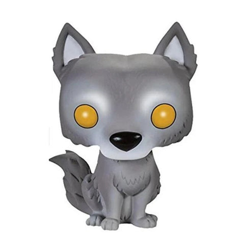 Gray Pop Wolf Figurine - American Wolves