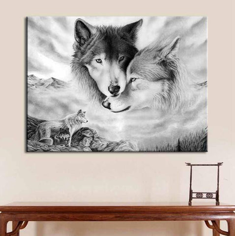 Guardian Wolf Wall Art - American Wolves