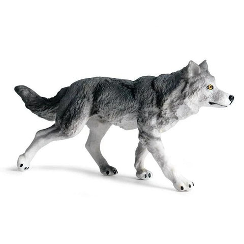Hunting Wolf Figurine - American Wolves