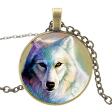 Magical Fur Bronze Wolf Necklace - American Wolves