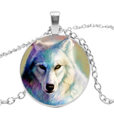 Magical Fur Silver Wolf Necklace - American Wolves