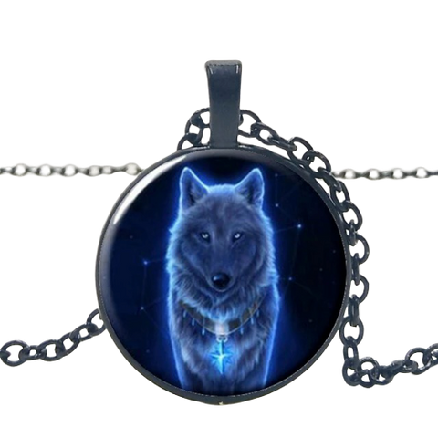 Midnight Black Wolf Necklace - American Wolves