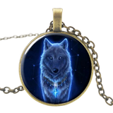 Midnight Bronze Wolf Necklace - American Wolves