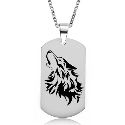 Military Loud Howling Wolf Necklace - American Wolves